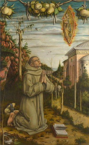 The Polyster Canvas Of Oil Painting 'Carlo Crivelli The Vision Of The Blessed Gabriele ' ,size: 18 X 29 Inch / 46 X 74 Cm ,this High Definition Art Decorative Canvas Prints Is Fit For Bar Decor And Home Decor And Gifts (Monster Walk Halloween Song)