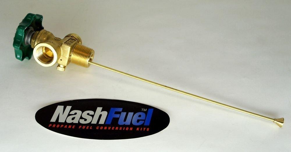 100lb Vapor tank service valve with bleeder