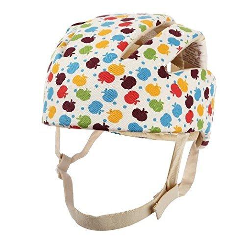 Ibepro Infant Baby Toddler Safety Helmet Kids Head Protection Hat for Walking Crawling baby Children Infant Adjustable Safety Helmet Headguard Protective Harnesses Cap Apple pattern