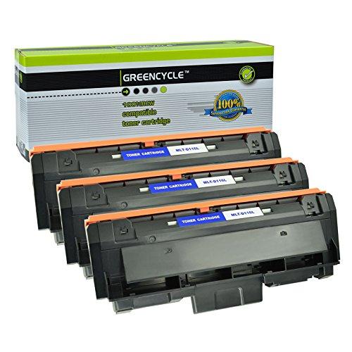 GREENCYCLE 3 Pack Black Compatible for Samsung 116L MLT-D116L MLTD116L Toner Cartridges High Yield use in Samsung Xpress SL-M2825DW SL-M2835DW/XAA SL-M2885FW/XAA SL-M2875FD/FW CL-M2625D Imaging Unit