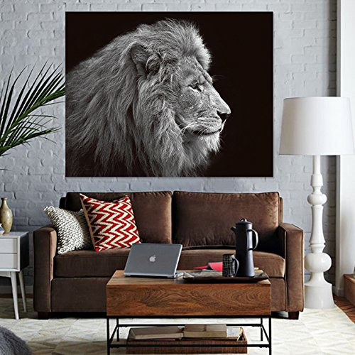 QCWN Wild Animal Tapestry African Lion Wall Hanging Africa Forest Animals Theme 3D Print Nature Home Decorations for Living Room Bedroom Dorm Decor Art (1, 78Wx59L) by QCWN