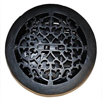 Round Cast Iron Floor Register Heat Grate Antique Vintage