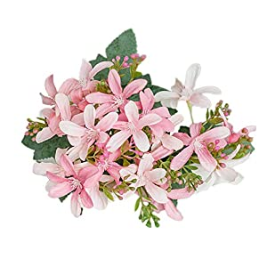 soAR9opeoF 1Pc Artificial Daffodil Flower Fine Workmanship,Vibrantly Colored with Real Touch Artificial Flowers for Home Garden Party Birthday Festival Bar Christmas Decoration Pink 94