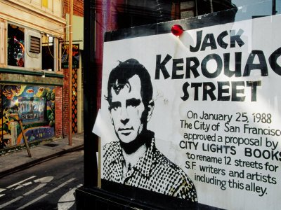 Sign, Jack Kerouac Street, North Beach District, San Francisco, United States of America Photographic Poster Print by Richard Cummins, - Beach Francisco Street San