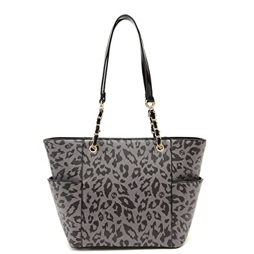 Best Leopard Black Animal Safari Print Vegan Leather Tote Purse Satchel TravelNut Last Minute Unique Mother Day Nurse Graduation Gift Idea Wife Mother Summer (Funny Things To Dress Up As)