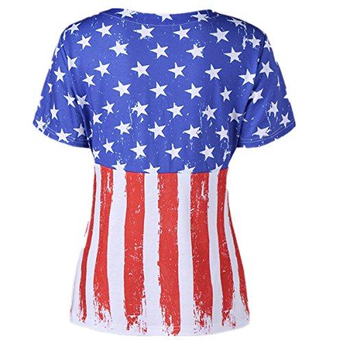 3616d551809 Easyhon Fourth July T Shirt  Patriotic T-Shirt  American Flag T Shirt