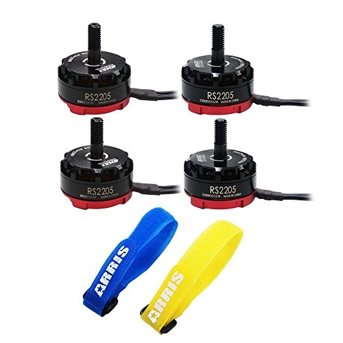 EMAX Cooling RS2205 RaceSpec 2205 2300KV Brushless Motor for FPV 250 RC Quadcopter (2CW + 2CCW) Free ARRIS Straps by EMAX