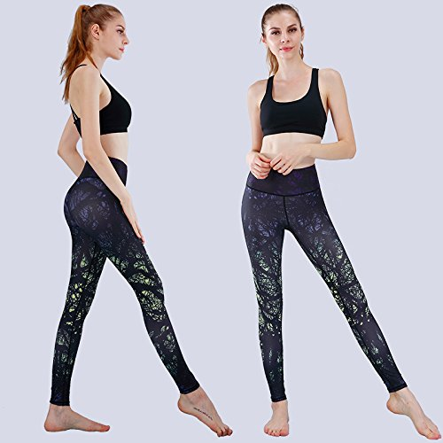 L'impression vert XL JIALELE Pantalon De Yoga 9 Sportswear Pantalon Léger Timbre Numérique Vidéo Danse Pantalon De Yoga