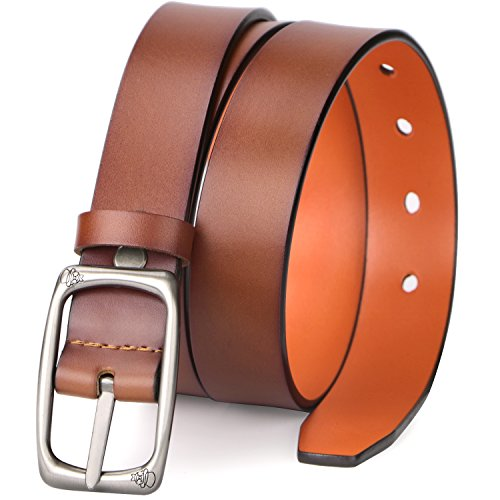 Reversible Brown Women Belt Cowhide Leather, Adjustable Ladies Jeans Belt Size Up 40 DIY Trim Down Belt Strap by MoAnBee