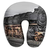 Awesome Train Steam Locomotive Super U Type Pillow Neck Pillow Outdoor Travel Pillow Relief Neck Pain