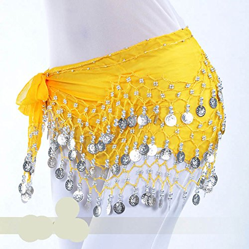 Vogue Écharpe 128 d'or Style Belly Style Cadeau Dance Hip 21 nbsp;pièces Idée wAqYxAF