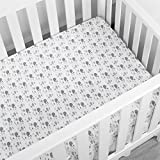 TILLYOU Printed Whale Crib Sheets