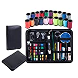 Professional Sewing Kit with 50+ Premium Sewing Supplies,(EXTRA Thread Spools+Refined Metal Needles+Safety Pins)Compact,Beginners for Adults & kids,Emergecy,Crafts,Travel,Repair,Superior kit you Need!