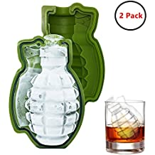 XCSUN Grenade Silicone Mold, Monster Sized Ice Cube Trays Cake Baking Moulds (2 Pack)