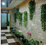 Iuhan 2.4M Artificial Ivy Leaf Garland Plants Vine Fake Foliage Flowers Home Decor
