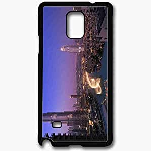 Unique Design Fashion Protective Back Cover For Samsung Galaxy Note 4 Case Dubai Naght Dubai Evening Home Black