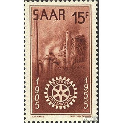 Sarre 358I (complète.Edition.) couleurs sous zweitem Un (Champ 45) 1955 usine sidérurgique (Timbres pour les collectionneurs)