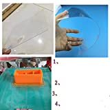 3D Printing Build Surface,Resin Plastic-like board Paster (220 degree of melting point) 510510MM0.5MM