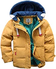 Kids Down Jacket Unisex Winter Hoodie Puffer Coat Thicken Padded Jacket Snowsuit