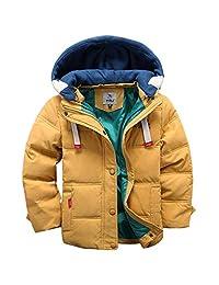 Kids Down Jacket Unisex Winter Hoodie Puffer Coat Thicken Padded Jacket Snowsuit