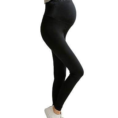 f8c7159fdc082 Bonboho Full Ankle Length High Elasticity Adjustable Waist Maternity  Pregnant Women Leggings Pants: Amazon.co.uk: Clothing
