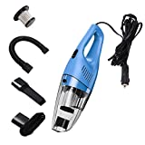#10: AmyHomie Car Vacuum Cleaner with LED Light, AmyHomie DC12-Volt Wet/Dry Portable Handheld Auto Vacuum Cleaner for Car,16.4FT(5M)Power Cord (blue)