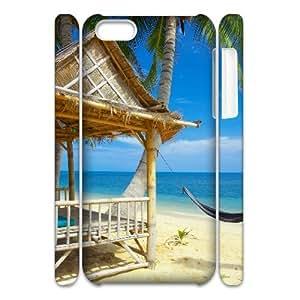 LZHCASE Design Diy hard Case Island Beach For Iphone 4/4s [Pattern-1]