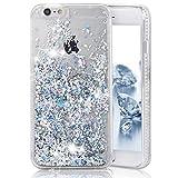 iPhone 6 Case, iPhone 6S Case, Crazy PandaLuxury Bling Glitter Sparkle Hybrid Bumper Case Liquid Infused with Glitter and Stars For Iphone 6/Iphone 6S Obtained Test Report - Silver Diamonds
