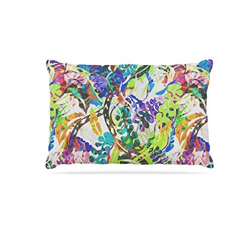 Kess InHouse Gabriela Fuente Flow  Fleece Dog Bed, 50 by 60 , Rainbow Floral