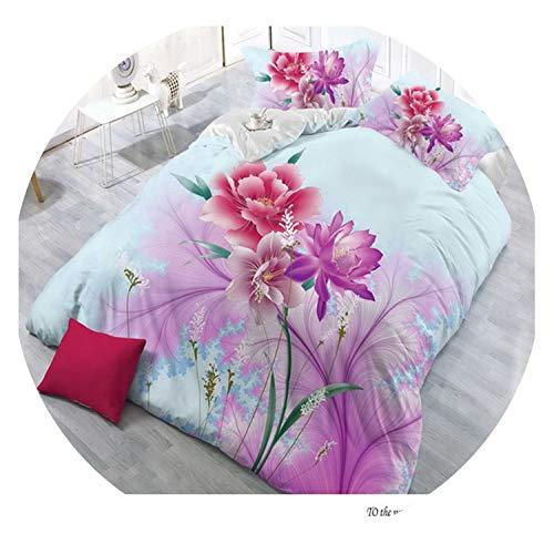 Home Textiles 4pcs Family Set Polyester 3D Bedding Set Queen Size Butterfly Design Include Pillowcase Duvet Cover Bed Sheet,19,Queen