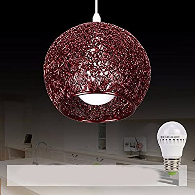HQLCX Chandelier Originality personality modern simplicity bedroom terrace bar led aluminium wire fishing line pendant lamp