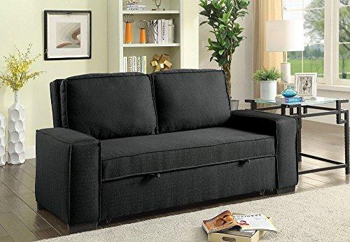 Balbriggan Warm Gray Fabric Futon Sofa by Furniture of Ameri