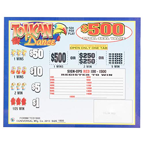 Toucan Dance 5 Window Pull Tab Tickets - 1800 Tickets Per Deal - Total Payout: $675 ()