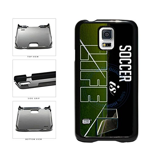 BleuReign(TM) Soccer Is Life Plastic Phone Case Back Cover For Samsung Galaxy S5