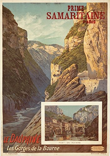 Le Dauphine Vintage Poster (Artist: Alesi, F. Hugo D') France c. 1895 (12x18 Signed Print Master Art Print w/Certificate of Authenticity - Wall Decor Travel - Press Dauphine