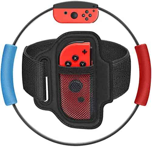 Ring-Con Grips and Leg Fixing Strap, Ring-Con Adventure Anti-Slip Grips Adjustable Leg Strap Set Kit for Ring-Con Nintendo Fit Adventure Game- Upgraded Version