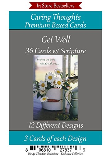 (Get Well Cards Premium 36 count Christian / Religious Greeting Card Assortment)