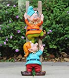 Wonderland Gnome / dwarf climbing stairs statue for garden decor or home decoration or balcony decotative item , gift , gifting, gnomes
