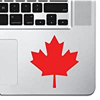 "Maple Leaf Laptop Sticker Decal MacBook Pro Air 13"" 15"" 17"" Keyboard Keypad Mousepad Trackpad Canada Canadian Maple Leaf Decal Laptop iPad Decal Tablet Computer Sticker Canuck Sticker"