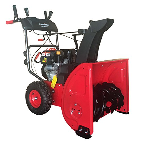 PowerSmart DB72024PA 2-Stage Gas Snow Blower with Power Assist, 24' Black