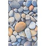 eCarpet Gallery 109719 Casual Lara Art Picture Design 4' x 7' Blue Living Room Dining Room Area Rug