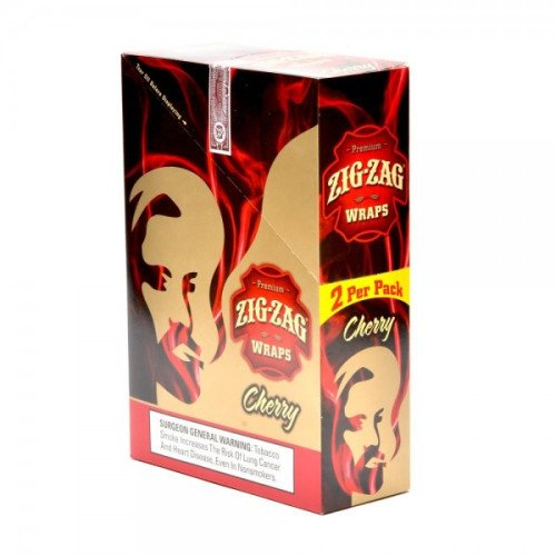 ZIG ZAG CIGAR WRAPS 2 PER PACK CHERRY FLAVOR PACK OF 25