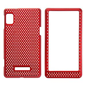 Mesh Hard Full Body Case for MOTO Droid 2/A955 (Red)