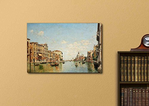 View of The Grand Canal of Venice by Federico del Campo Print Famous Painting Reproduction