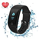 Fitness Tracker Watch, Uten Smart Activity Tracker with Dynamic Blood Pressure and Heart Rate 24 hrs Monitor, IP67 Waterproof, Body Fat, Calorie Counter, Pedometer Watch for Kids Women Men