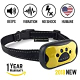 Dog No Bark Collar - Anti Barking Vibration Control Device for Small Medium Large Dogs - Puppy Training Deterrent - No shock 2018 MODEL - FAST RESULTS!