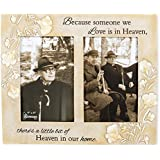 Heaven in Our Home 8.5 x 10 Embossed Resin Stone Double Table Top Photo Frame