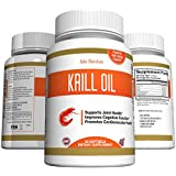 Pure Krill Oil Omega 3 Supplement - Antarctic Antioxidant High in DHA and EPA For Joint Flexibility, Heart Health, Mental Sharpness, and Immune Vitality - Made in USA and Certified By 3rd Party Lab