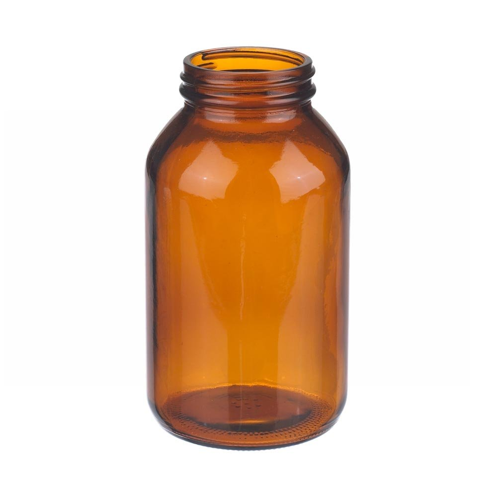 Capacity 1oz Without 28-400 White Polypropylene Poly-Vinyl Lined Screw Cap Case Of 432 Wheaton W216960 Wide Mouth Packer Bottle Diameter 37mm x 65mm Amber Glass