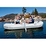Ozark Trail Marine Pro Inflatable Boat, Gray, Equipped with Omni-Directional Oarlocks for Easy Rowing, 13689
